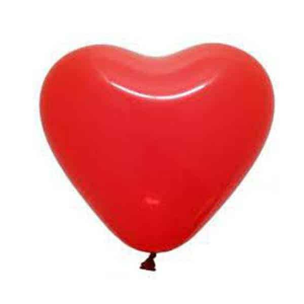 בלון לב אדום