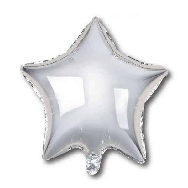 בלון מיילר כוכב - כסף חלק