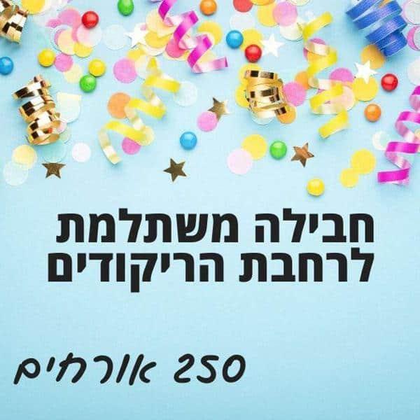 חבילה לרחבת הריקודים - 250 אורחים