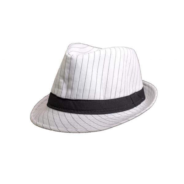 כובע-ג'נטלמן-פסים---לבן