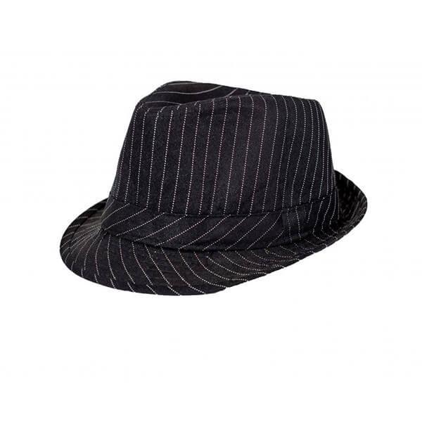 כובע-ג'נטלמן-פסים---שחור