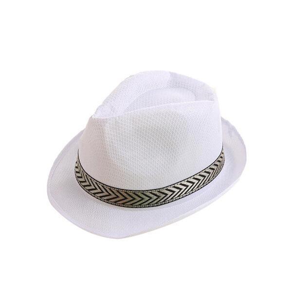 כובע ג'נטלמן קלאסי לבן