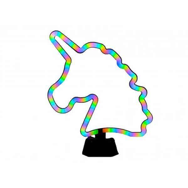 מנורת ניאון ציבעונית חד קרן