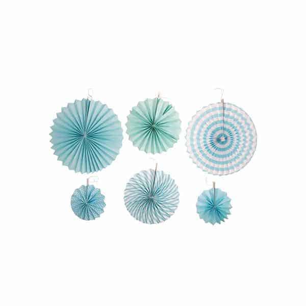 סט-מניפות-לתלייה---כחול-ולבן