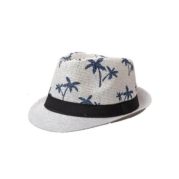 כובע-קש-עץ-דקל---לבן