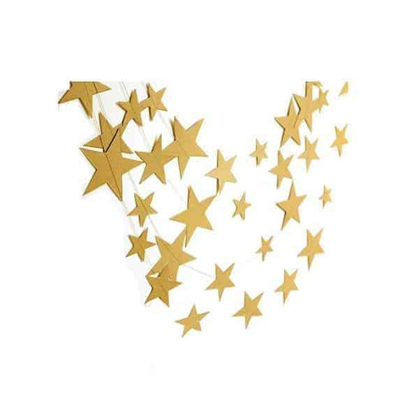 שרשרת-קישוט-(גרלנדה)-כוכבים---זהב